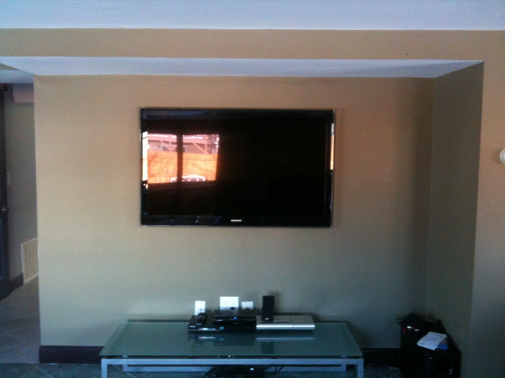 Wall Led Tv : Home  Blog  Home Theater  55inch LED wall mount install Peabody, MA