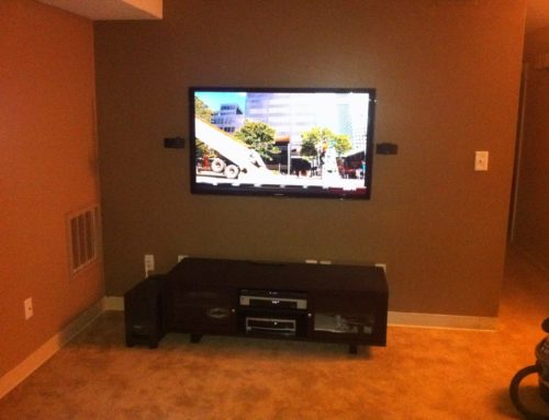 Wall Mounted 55in Samsung LED HDTV | Stoneham, MA